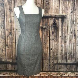 Banana Republic gray wool stretch sleeveless dress